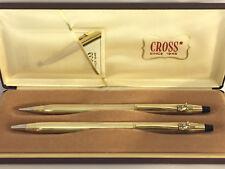 CROSS RCA NIPPER #2, 10k GOLD CLASSIC CENTURY BALLPOINT PEN & 0.5mm PENCIL #4502