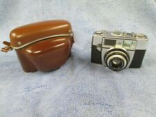 Vintage Agfa 35mm Film Camera w/Leather Case & 1:2.8/45 Lens Made in Germany