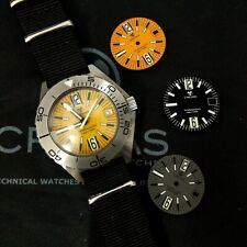 CREPAS TORNADO SAPPHIRE WATCH 1000M DIVER, FULL SET WITH EXTRA STRAPS AND DIALS