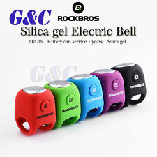 Protable Silica gel Cycling MTB Bicycle Electric Horn Rainproof Handlebar Bell