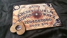 Classic Wooden Ouija Board & Planchette ghost hunt Psychic bizarre magic seance