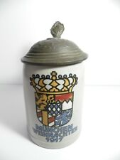 Rare Munich Christmas 1917 stoneware 1/2 liter beer mug or stein