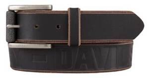 Harley-Davidson Men's Mudslide Genuine Leather Belt, Black & Brown HDMBT11442