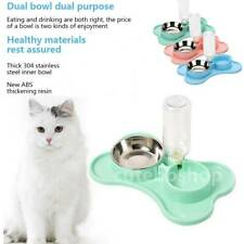 2IN1 Automatic Dog Pet Feeder Cat Water Dispenser Food Dish Bowl Feeder Drinking