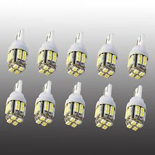 10x T10 20 SMD W5W 194 168 501 White Car LED Inverted Side Wedge Light Bulb 12V
