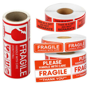 Fragile Stickers For Shipping Handle With Care Warning Labels Do Not Bend Seals