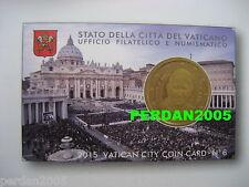 VATICANO 2015 : coincard nr 6 - ORIGINALE VATIKAN VATICAN