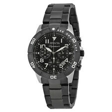Invicta Signature II Chronograph Black Dial Black PVD Steel Mens Watch 7351