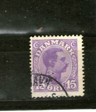 Early Denmark 1913 15 Ore Violet Used-Hinged , Cv $55+