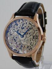 Montre squelette 41mm PURE MECANIQUE Type Unitas 6498 ROSEGOLD skeleton watch