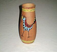 Mid Century Modern Hand Painted Florentine Pottery Vase Italy