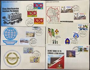 Malaysia 6 of 1974 Issues FDC - Scouts Tin Bank UPU Architecture