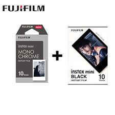 Monochrome+Black Fujifilm Instax Mini Instant Film for Mini 7s/8/25/50s/90 SP-1