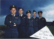 W/Co GUY GIBSON VC + CREW OF HIS LANCASTER AJ-G -617 SQUADRON/DAMBUSTERS 1943