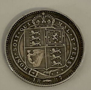 1887 VICTORIA JUBILEE SILVER SHILLINGS CLEAR DATES  ACTUAL COIN