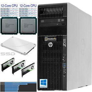 12-Core HP Z620 Workstation Xeon E5-2696v2 ☎ 24x 2,5GHz ➕ 64GB ram ➕ 256GB SSD