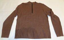 Cremieux Size XXL 2XL Brown Heather Wool New Mens Zipper Sweater