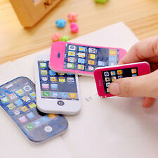 iPhone Shaped Rubber Pencil Eraser Fun Gift Toy Students Creative Stationery New