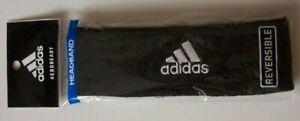 Adidas Headband Reversible Running Workout Sport Team Black / Gray Climalite