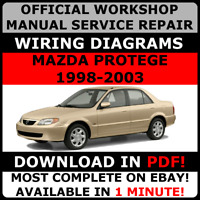 OFFICIAL WORKSHOP Service Repair MANUAL MAZDA PROTEGE 1998-2003 +WIRING #