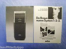 QUATTROR985-PUBBLICITA'/ADVERTISING-1985- BRAUN SYSTEM 1-2-3 -2 fogli