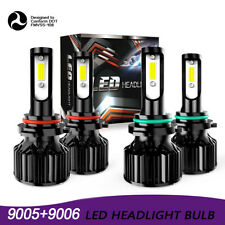 9006 9005 Hi/Lo Beam LED Headlights for Honda Accord 90-2012 Civic 2004-15 DAW