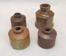 Lot of 4 19th Century Salt Glaze / Stoneware Inkwells