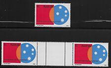 Australia Scott #496, Single & Gutter Pair 1971 Complete Set FVF MNH