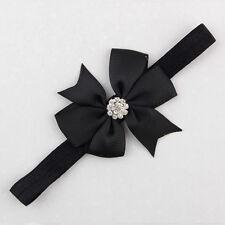 Baby Bow Knot Headband Flower Girl Hair Band Elastic Headdress Party Hairbands