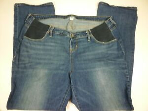 Old Navy Womens Jeans Size 16 Bootcut Maternity Side Panel Medium Wash - R14