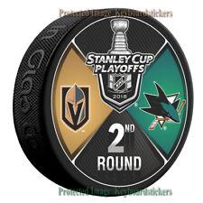 Vegas Golden Knights vs San Jose Sharks 2018 Stanley Cup Playoffs 2nd Round Puck