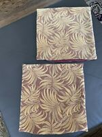 Set of 2 20x20 Square Pillow Covers Como Palm Leaves Tapestry