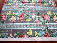 New listing Retro Mid Century Bande De Fleurs Floral Print Cotton Home Decor 1 Yd Teflon