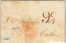 51833 - GIBRALTAR -  POSTAL HISTORY - PREFILATELIC COVER to CADIZ 1825
