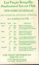 1979 Las Vegas Seagulls Soccer Schedule 101817jh