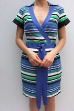 Vestiti da donna Camicia a fantasia righe con scollo a v