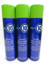 IT'S A 10 MIRACLE DRY SHAMPOO & CONDITIONER IN ONE 6 OZ (Lot of 3)