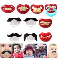 Useful Funny Teeth Mustache Baby Infant Pacifier Orthodontic Dummy Nipples KJ