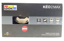 2018 LOOK Keo 2 Max Pedals, Wider Surface, BLACK, NEW