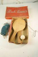 Tisch-Tennis 50er Jahre Vintage Spiel Holzschläger Tischtennis Antik Z-1585