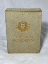 Vintage Rare Egyptian Moments Plastic-Coated Playing Cards Unopened Velvet Case