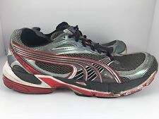 Puma Complete Spectana Men US 11 Gray + Red M2D+ Athletic Trainers Running Shoes