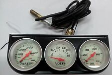 Equus 8100 Triple Gauge Kit (50MM DIAMETER) PRESSURE GAUGE TEMPERATURE VOLTMETER