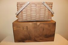 Longaberger CC Collectors Club Antiqued Tote Basket - New!