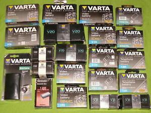 21 AKKUs VARTA V20 V22 V31 V32 V70 V92 V111 V213 V261 CAMCORDER Videokamera NEU