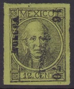dc36 Mexico #77 perf 12ctv Toluca 15-70 'Anotado' Mint No Gum VF est $60-100