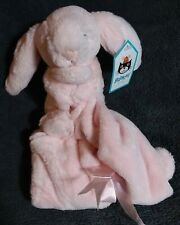 JELLYCAT Bashful Pink Bunny Security Blanket Soother Lovey Soft Pink Baby NEW!