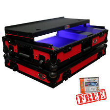 ProX Case for Pioneer DDJ SX SX2 SX3 DDJRX Red Black w/ Laptop Glide and Wheels