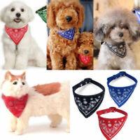 Cute Adjustable Dog Bandana Collar Puppy Cat Pet Neckerchief Neck Scarf Tie AU