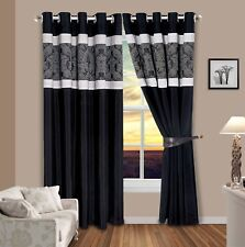 Opulence Faux Silk Fully Lined Curtains Ring Top / Pencil Pleat With 2 Tie Backs